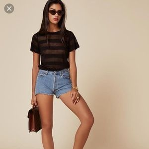 Reformation x levis shorts